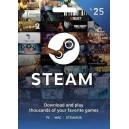 Steam Wallet Gift Card 25 EUR Steam Code